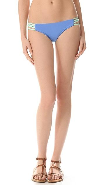 L*Space Colorblocked Low Down Reversible Bikini Bottoms