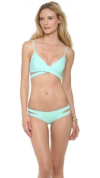 L*Space Sweet & Chic Solids Chloe Wrap Bikini Top