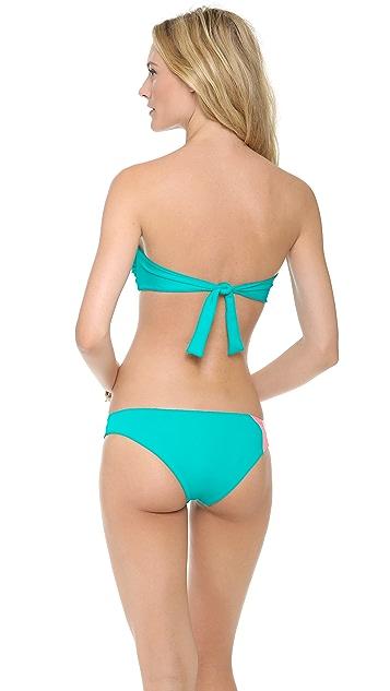 L*Space Colorblock Neo Bandeau Bikini Top