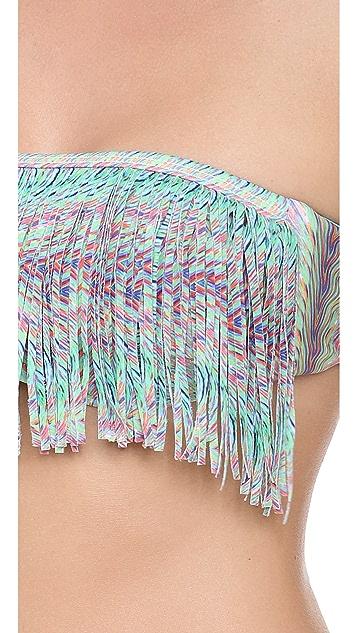 L*Space Plumage Dolly Fringe Bikini Top