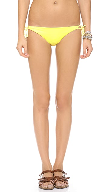 L*Space Sensual Solids Dandy Keyhole Bikini Bottoms