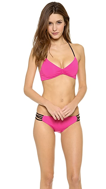 L*Space Colorblock Strap Back Bikini Top