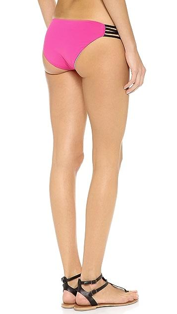L*Space Colorblock Low Down Bikini Bottoms