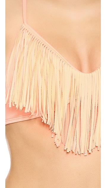 L*Space Audrey Fringe Bikini Top