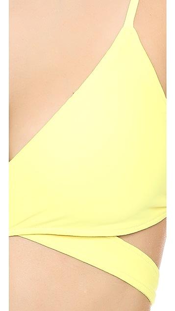 L*Space Chloe Wrap Bikini Top