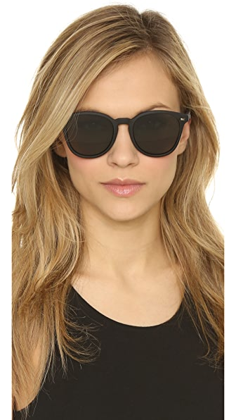 23500f99dc Le Specs Bandwagon Sunglasses In Black Rubber Khaki Mono