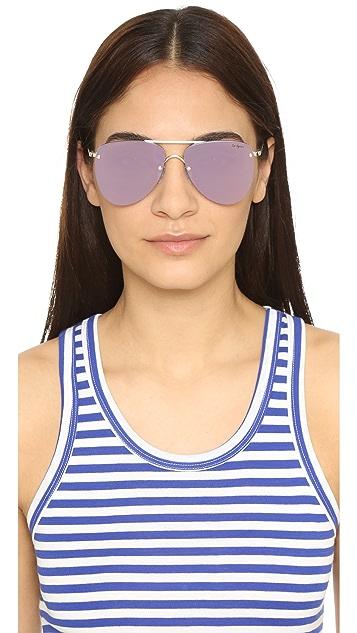 Le Specs The Prince Mirrored Sunglasses