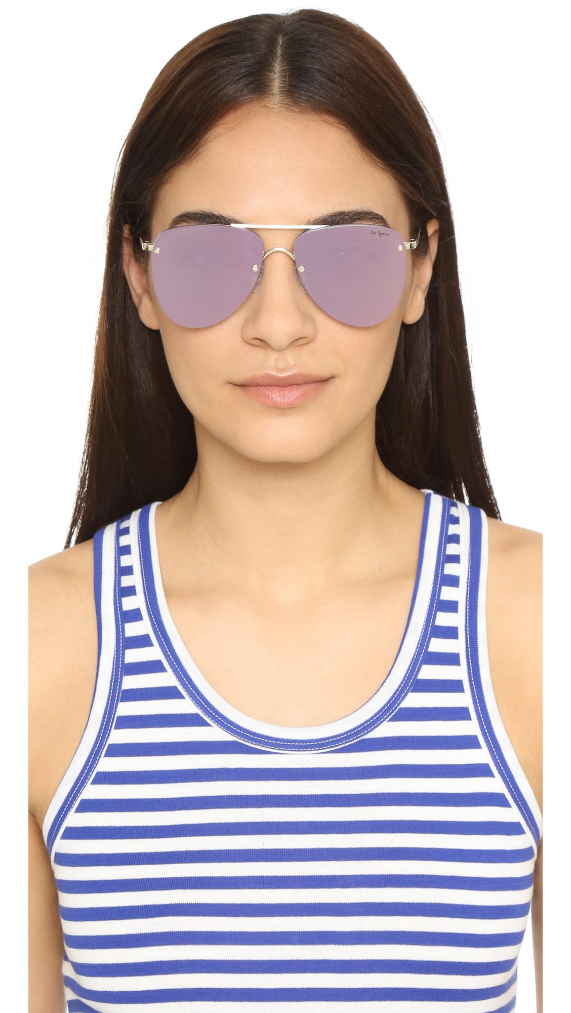 83fa694f541 Le Specs The Prince Mirrored Sunglasses