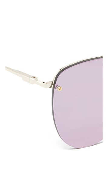 Le Specs The Prince Mirrored Sunglasses