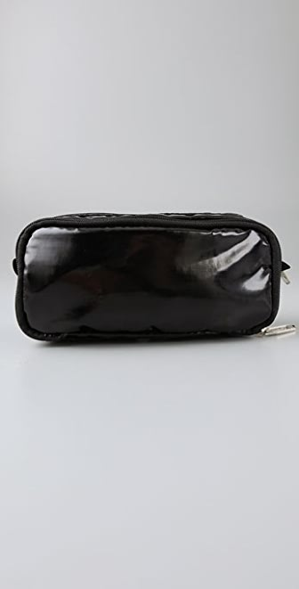 LeSportsac Black Patent Kevyn Cosmetic Bag