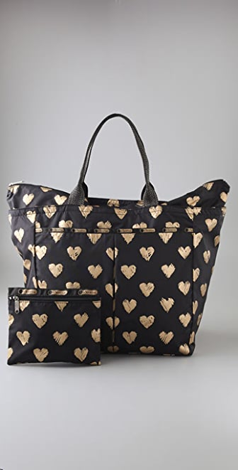 LeSportsac Heart of Gold Deluxe Everygirl Tote