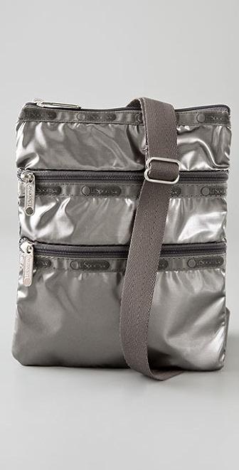 LeSportsac Graphite Shimmer Kasey Mini Messenger Bag