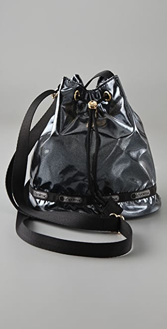 LeSportsac Black Opal Drawstring Cross Body Bag