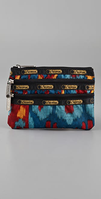 LeSportsac Ikat 3 Zip Cosmetic Bag