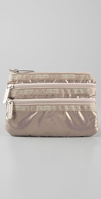 LeSportsac Brilliant Sparkle 3 Zip Cosmetic Case