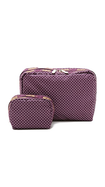 LeSportsac XL Rectangular & Square Cosmetic Case Combo
