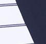 White Pinstripe