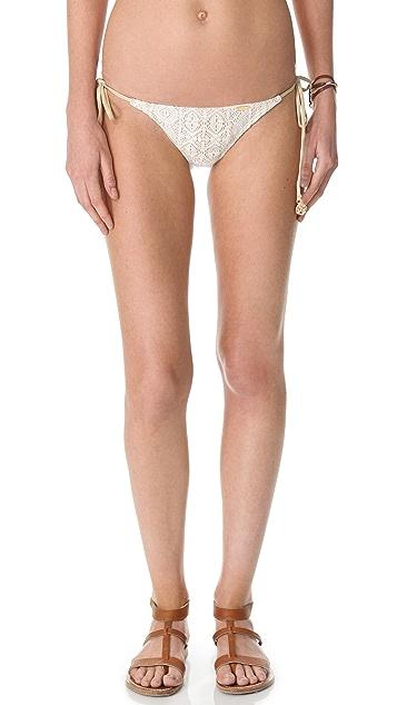 Luli Fama Sweet Seduction Lace Tie Bikini Bottoms