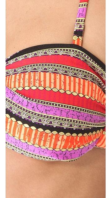 Luli Fama Pura Fiesta Twist Bikini Top