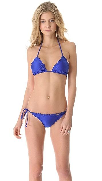 Luli Fama Cosita Buena Wavy Triangle Bikini Top