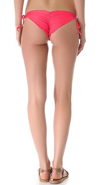 Luli Fama Cosita Buena Wavy Tie Bikini Bottoms