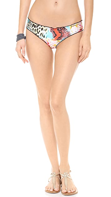Luli Fama Isla Bonita Full Ruched Back Bikini Bottoms