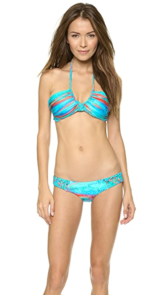 Luli Fama Mermaid Glitter Scoop Halter Bikini Top