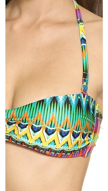 Luli Fama Tulum Party Bandeau Bikini Top