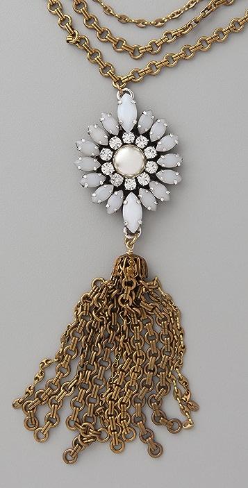 Lulu Frost Navette Tassel Necklace