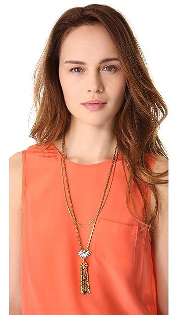Lulu Frost Sunburst Tassel Necklace