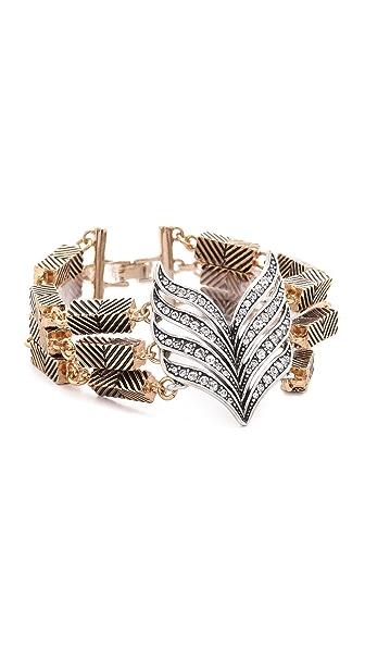 Lulu Frost Symmetry Bracelet - Antique Gold/Clear