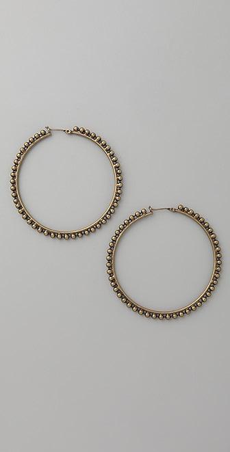 Luv Aj Ball Chain Hoop Earrings