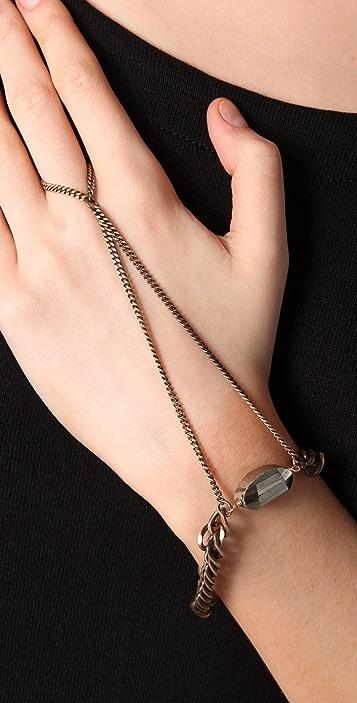 Luv Aj Polished Pyrite Handpiece