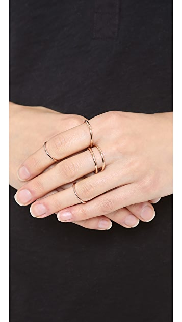 Luv Aj The Petite Band Ring Set