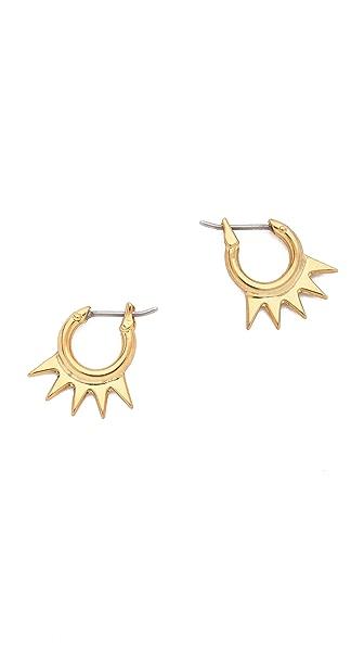 Luv Aj The Crown Hoop Huggie Earrings