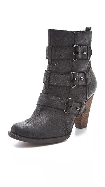 Luxury Rebel Shoes Regina Buckle Booties
