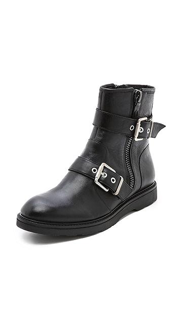 Luxury Rebel Shoes Cleary Flat Buckle Booties