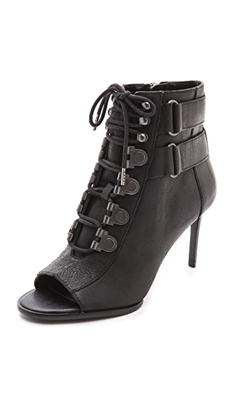 Luxury Rebel Shoes Cara Open Toe Booties