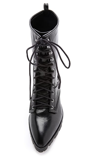 Luxury Rebel Shoes Gretchen Pointed Toe Combat Boots