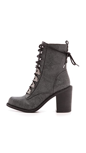 Luxury Rebel Shoes Mara Lace Up Booties