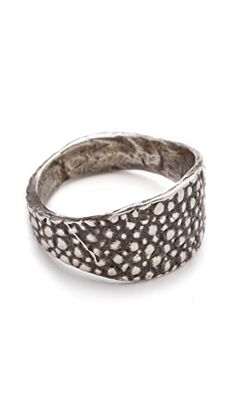Lauren Wolf Jewelry Silver Stingray Signet Ring