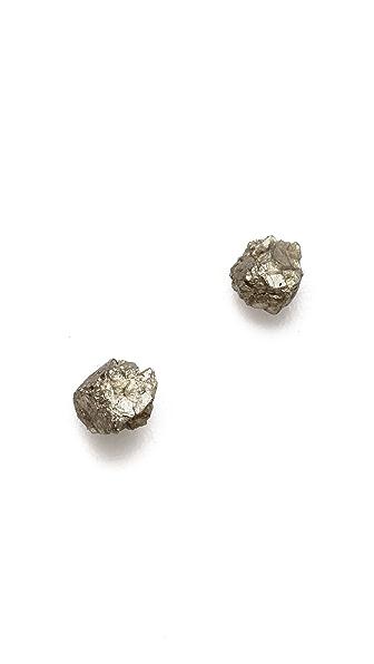 Lauren Wolf Jewelry Pyrite Stud Earrings