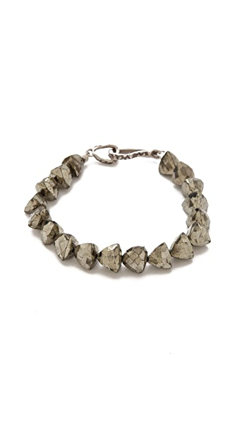 Lauren Wolf Jewelry Single Strand Pyrite Bracelet