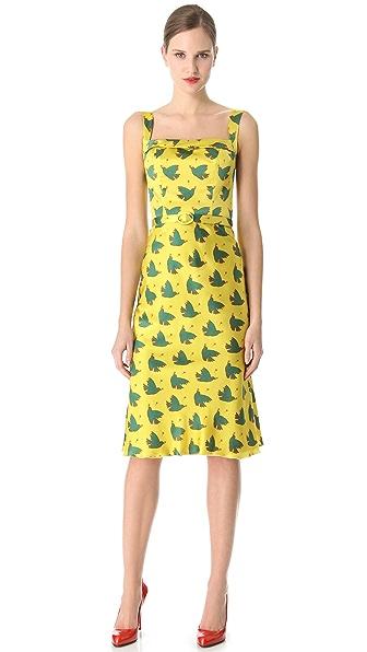 L'Wren Scott Peach & Love Belted Dress