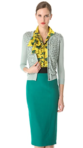 L'Wren Scott Morse Code Beaded Cardigan