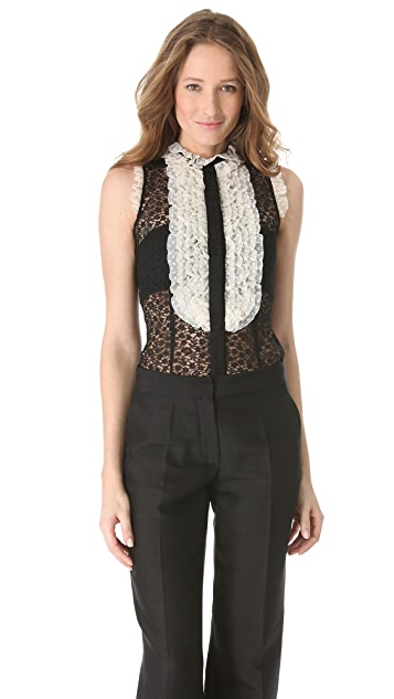 L'Wren Scott Sleeveless Lace Top