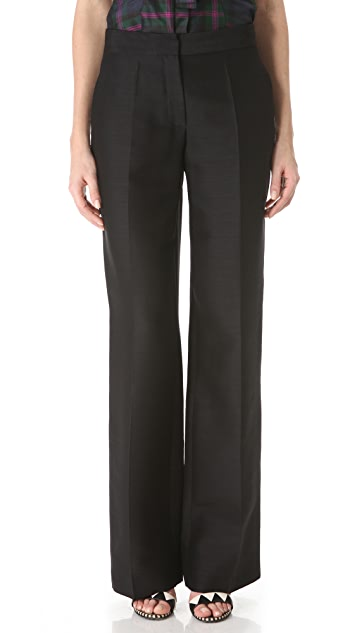 L'Wren Scott Wide Leg Pants with Front Zip