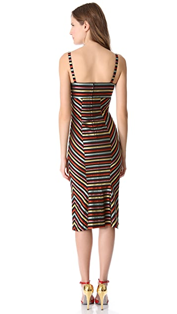 L'Wren Scott Sleeveless Ribbon Dress