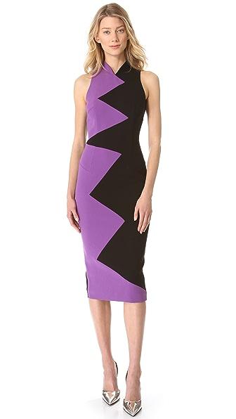 L'Wren Scott Zigzag Sleeveless Dress