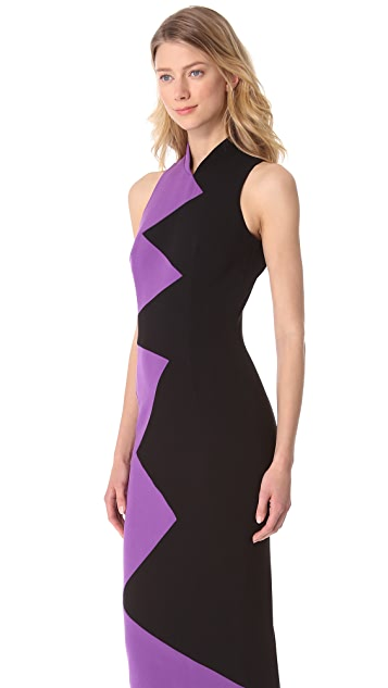 L'Wren Scott Zigzag Sleeveless Dress